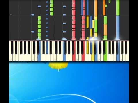 [Piano Tutorial Synthesia]Cielo E Terra - Nek