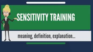 What is SENSITIVITY TRAINING? What does SENSITIVITY TRAINING mean? SENSITIVITY TRAINING meaning