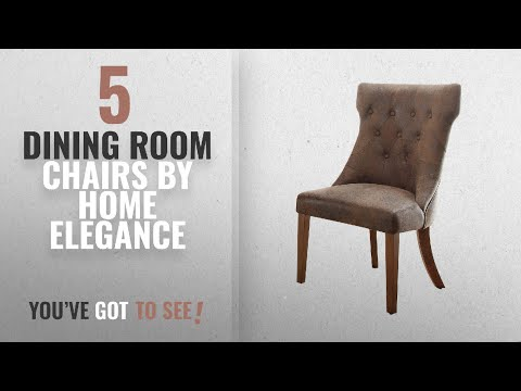 Top 10 Home Elegance Dining Room Chairs [2018]: Homelegance 2526S Button-Tufted Microfiber