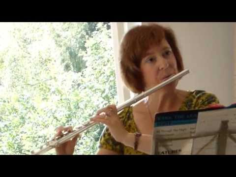 Mary Gorniak playing the flute - Greensleeves - English folk song