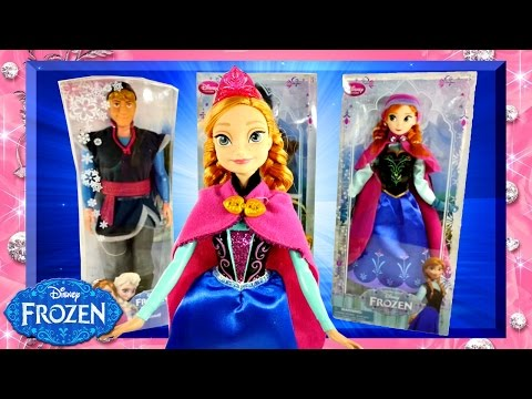 DISNEY FROZEN Barbie Doll Comparison Mattel vs Disney Store Princess Anna and Kristoff