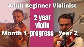 Adult beginner violinist | 2 years progress video