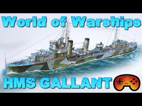 HMS GALLANT Preview/Gameplay - World of Warships - Gameplay - Deutsch/German - HMS GALLANT
