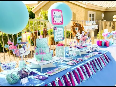 Mermaid Birthday Party via Little Wish Parties childrens party blog