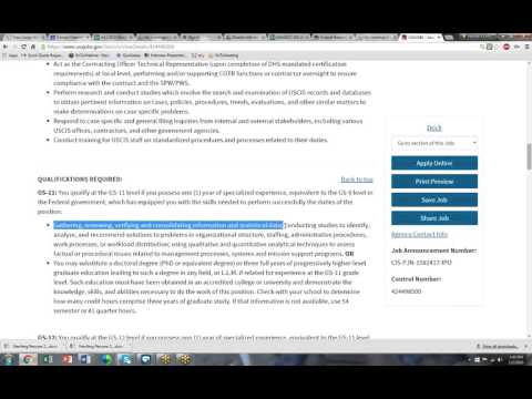 Hw To Get Best Qualified With Usajobs Federal Resumes - Youtube