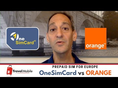 ORANGE Versus  ONESIMCARD | Prepaid SIM For Europe | TRAVEL MOBILE - English