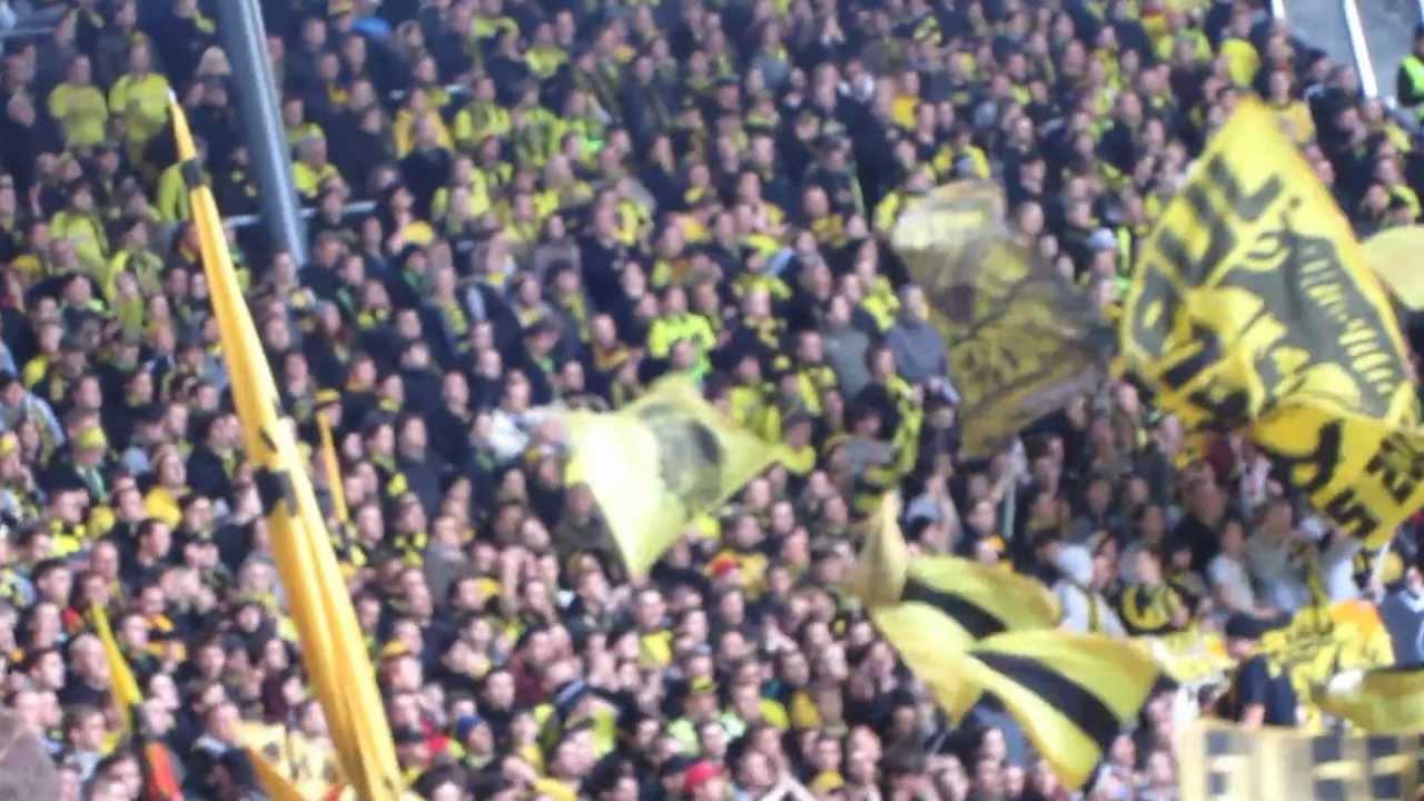 Gästeblock Augsburg BVB Fans