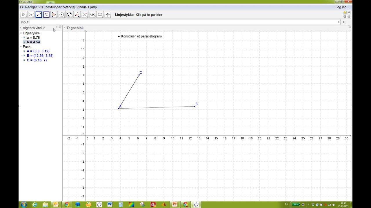 Konstruer et parallelogram