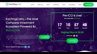 KACHINGCOINS- A PROMISING ICO  IN 2018, The Complete Ecosystem for Traders