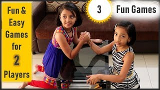 Party games for 2 players   3 fun games for kids and adults party   friends fun family games