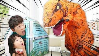 거대 공룡 놀이 공룡 탐험대 장난감 놀이 Giant Dinosaur & Dino Paper House - 마슈토이 Mashu ToysReview