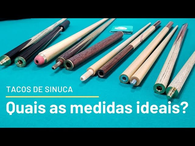 Tacos de sinuca: Madeiras, modelos, medidas e cuidados.