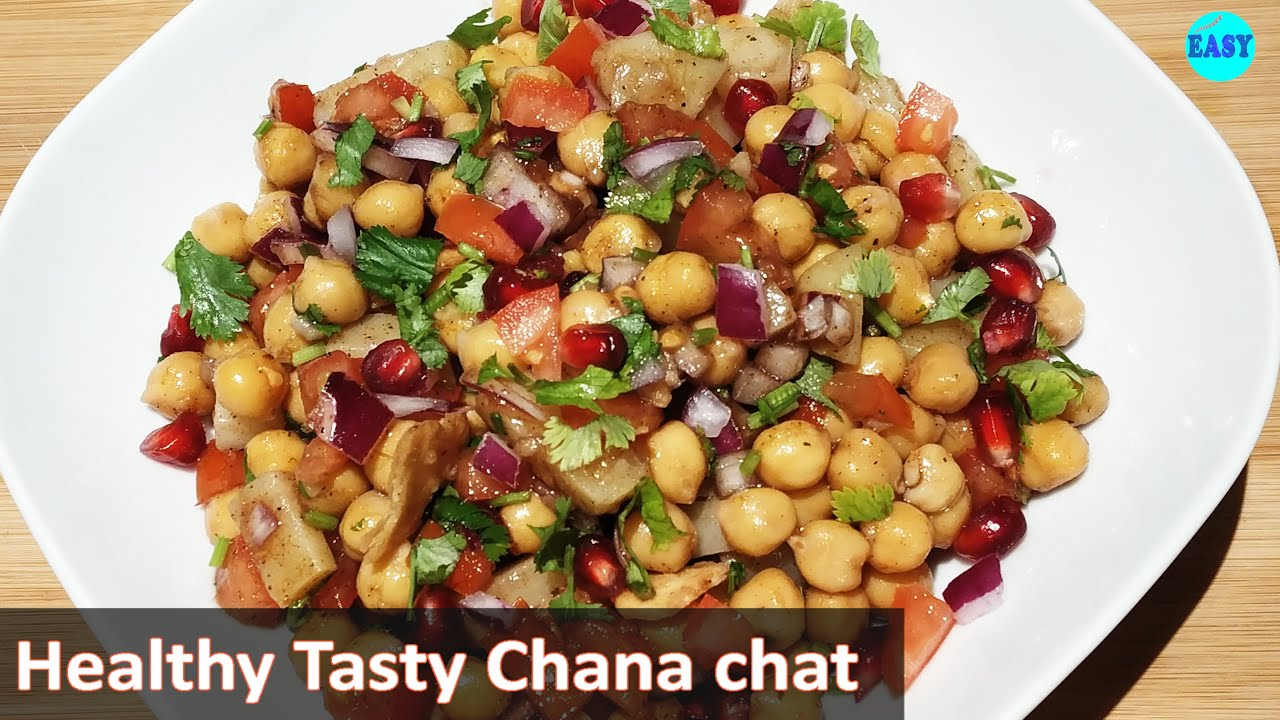 Healthy chaat recipe-High protein and Non-fried-Chana chaat