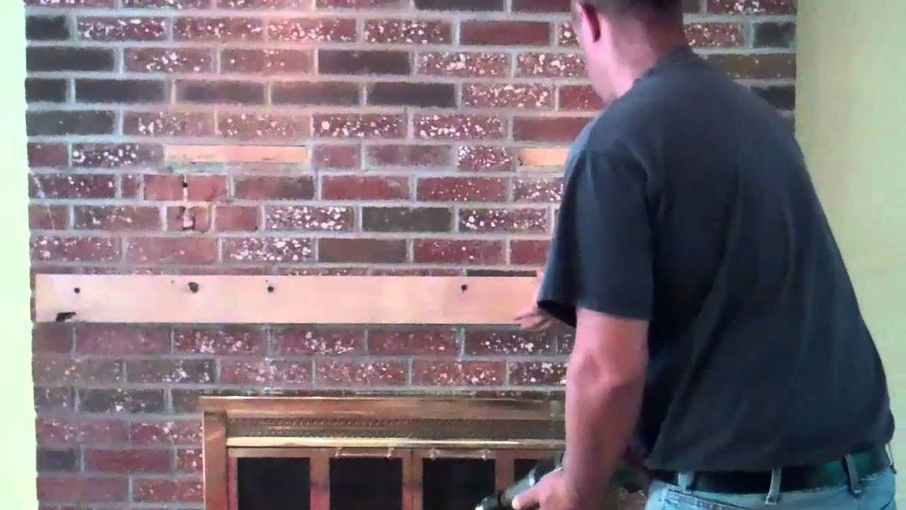 Installation of TV over brick fireplace (Customized ...