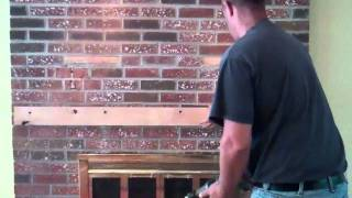 Installation Of Tv Over Brick Fireplace (customized Solution
