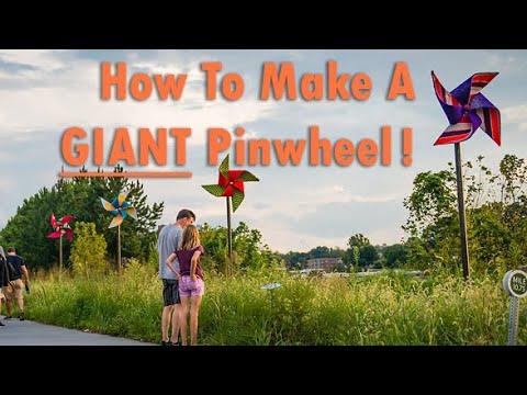 HOW TO: DIY giant metal pinwheel from a bicycle hub & sheet metal. (Extra large pinwheel art)