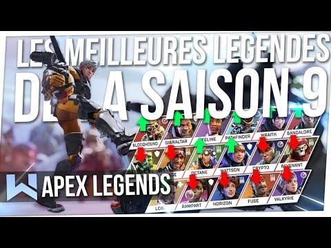 Tuto Apex : Les MEILLEURES Légendes de la SAISON 9 ! (Meta Tier List)