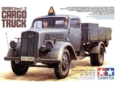 "TAMİYA German 3 ton 4x2 Cargo Truck ""Opel Blitz"" #35291 DETAILED INBOX REVIEW"