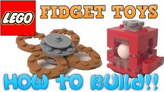 How to Build a LEGO Fidget Spinner & Fiddle Cube! Step by Step Instructions!