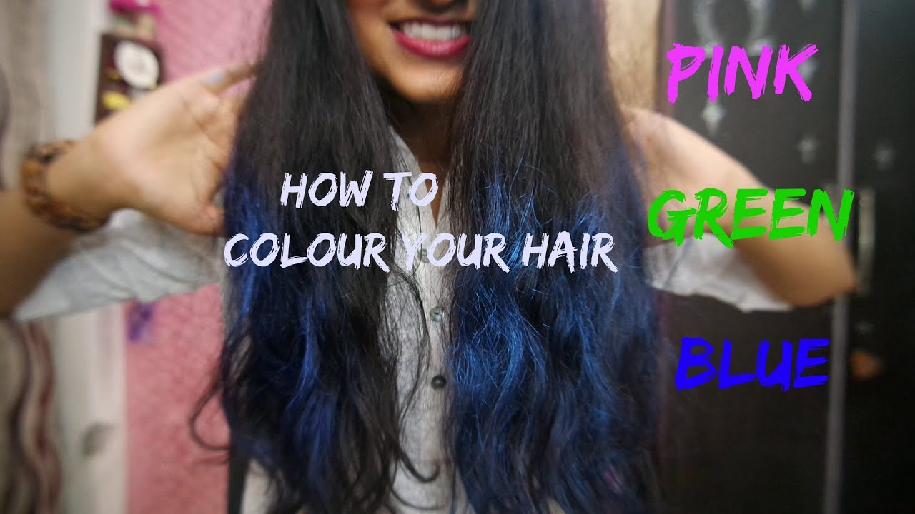 Colour Your Bluepinkgreen Temporary Colour Youtube