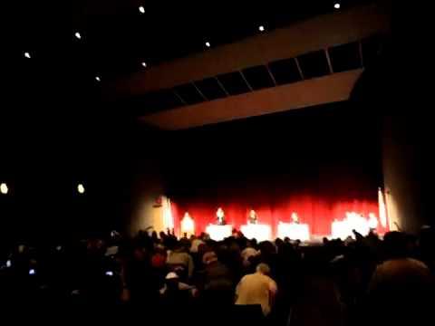 Pledge of Allegiance BANNED at Melissa Bean Debate