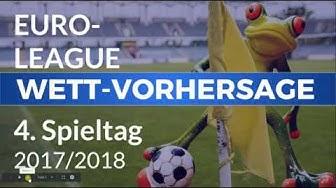 Euro-League Wett-Vorhersagen zum 4. Spieltag ⚽ Fußball-Tipps, Prognosen und Wettquoten 💰✊