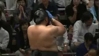 平成25年秋場所6日目 つえーオッサンだ・・・ sumo 大相撲.