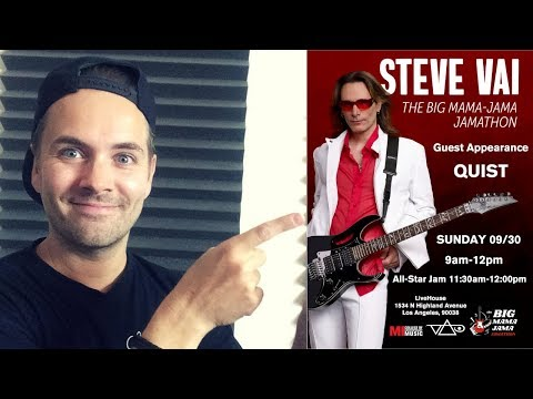 I'll be jamming with Steve Vai this weekend