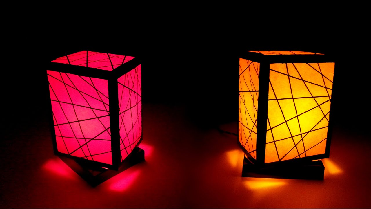 How to make a night lamp youtube for Night light design