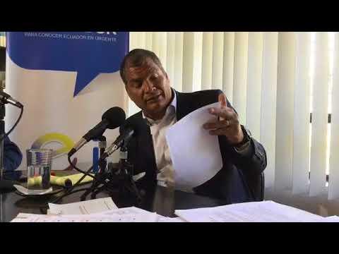 Rafael Correa desde Los Estudios de Ecuador Inmediato Radio en la ciudad de Quito