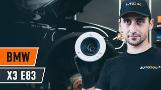 Kā nomainīt amortizatoru atbalsta gultnis BMW X3 E83 [AUTODOC VIDEOPAMĀCĪBA]
