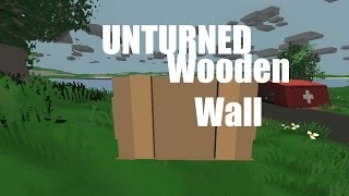 Unturned - How To Craft A Wooden Wall [en-fr]