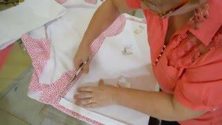 Diy: fio do tecido e corte de um abrigo de moletom