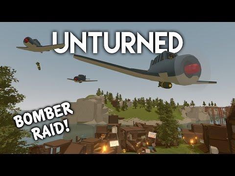 Unturned   Bomber Plane Raid! (Roleplay Survival)