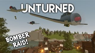 Unturned | Bomber Plane Raid! (Roleplay Survival)
