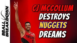 CJ McCollum Destroys The Nuggets Dreams