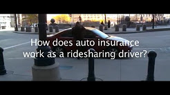 Auto insurance for ridesharing drivers