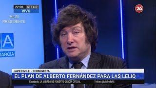 """""""El dólar a $180 sería el ratio de conversión según las reservas del Banco Central""""J. Milei-29/07/19"""