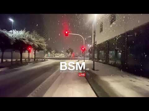 LIVE: Rrugët e zbardhura nga dëbora   Walking in heavy snow storm   Tirana, Albania (13 Shkurt 2021)