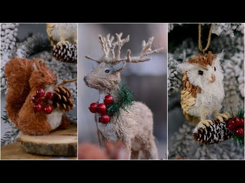 DIY eco-style Christmas ornaments