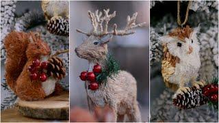 Новогодние игрушки в эко-стиле / Елочные украшения из природных материалов