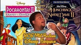 bcg mini reviews rant part 3 pocahontas ii the hunchback of notre dame ii