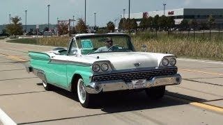Test Driving 1959 Ford Fairlane Galaxie Sunliner Convertible