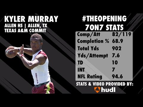 The Opening: KYLER MURRAY 7on7 Highlights