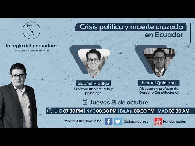 Crisis política y muerte cruzada en Ecuador