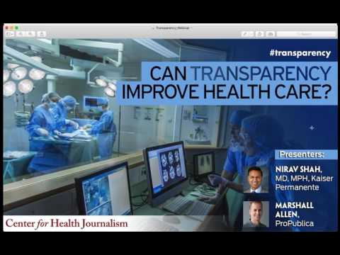Webinar: Can Transparency Improve Health Care Quality?