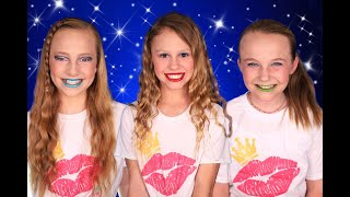 Colorful Friends Makeup Challenge! We Wore Crazy Makeup!