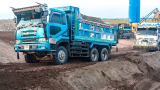 The most heavy Nissan V8 truck dumpers on dangerous ramps.April 14, 2019