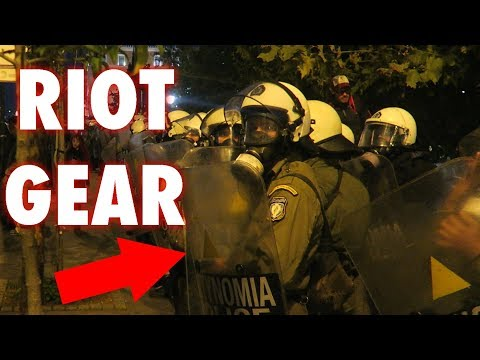 RIOTS IN THE STREETS OF ATHENS GREECE!