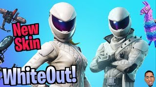 New WHITEOUT Skin w the SQUAD! Fortnite Battle Royale